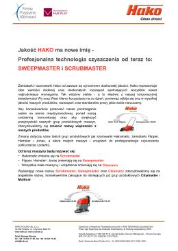 Nowe nazwy produktów HAKO 2014