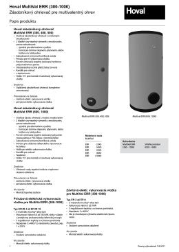 MultiVal ERR 300-1000 katalog
