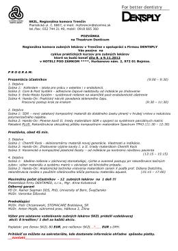 SKZL, Regionálna komora Trenčín Piaristická ul. č. 6667, e