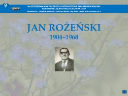 JAN ROŻEŃSKI (1904–1968)