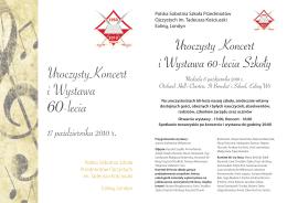 UroczystyKoncert i Wystawa 60-lecia