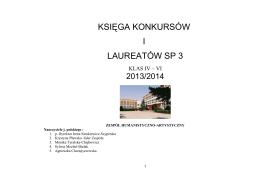Klas IV - VI - Szkoła Podstawowa nr 3 we Wrocławiu
