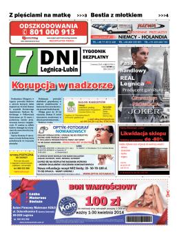 Korupcja w nadzorze - 7 Dni Legnica