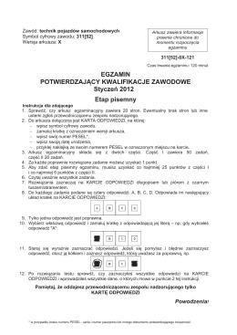 egzamin potwierdzający kwalifikacje zawodowe próbny 2013/2014