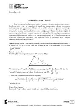Geometria - zadania na dowodzenie z geometrii