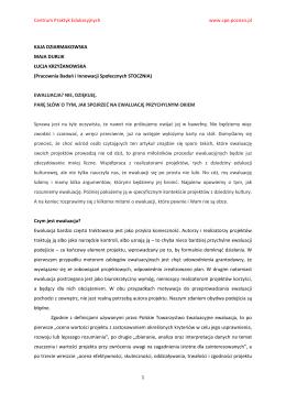 K. Dziermakowska, M. Durlik, Ł. Krzyżanowska, EWALUACJA NIE