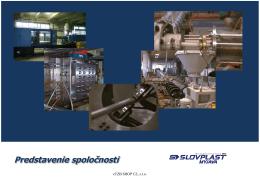 Montážny predpis pre PP-R tlakový potrubný systém SLOVPLAST