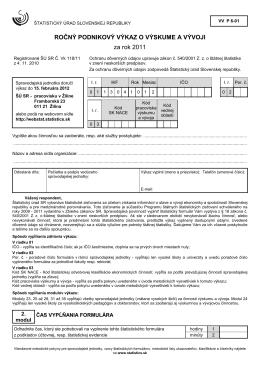 VV P 6-01 - Štatistický úrad SR