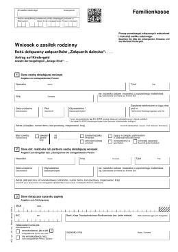 Antrag auf Kindergeld KG1 (Polnisch)