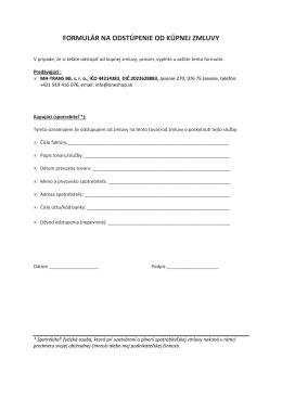 formulár na odstúpenie od kúpnej zmluvy