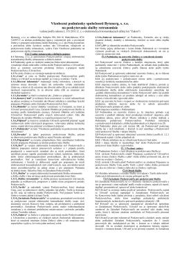 Všeobecné podmienky spoločnosti Bytenerg, s. r.o. na