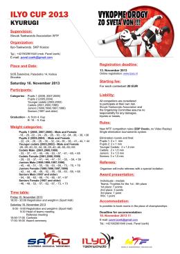 ILYO CUP 2013 - Slovenská asociácia taekwondo