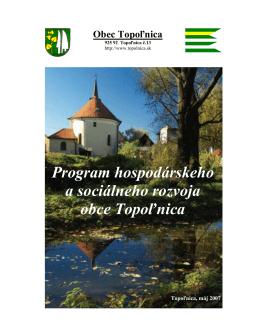 Program hospodárskeho a sociálneho rozvoja obce