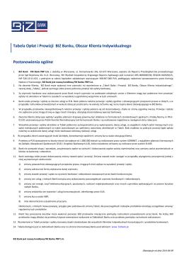 Tabela Opłat i Prowizji_Klienci indywidualni