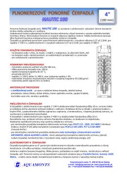 """NAUTIC 4SP - veľkosti 4"""" (PDF verzia)"""