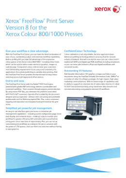 Xerox® FreeFlow® Print Server Version 8 for the Xerox