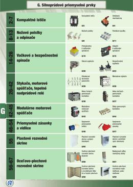 G. Silnoprúdové priemyselné prvky Modulárne motorové spúšťače