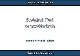 Podsieci IPv4 w przykładach