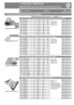 Cenník produktov Adax