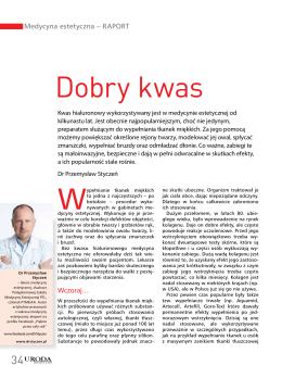 Dobry kwas - Dr Przemysław Styczeń