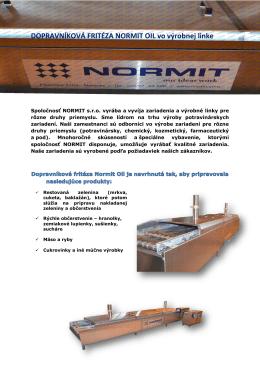 Výrobné linky s fritézou Normit Oil PDF