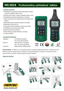 MS 6818 Profesionálny vyhľadávač káblov