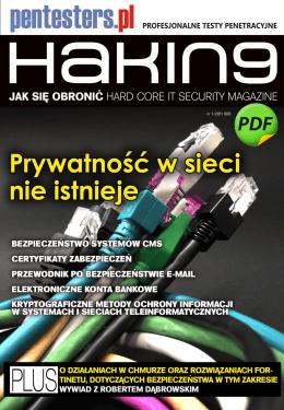 Styczniowy numer magazynu Hackin9, artykuł na stronie 24 – 28