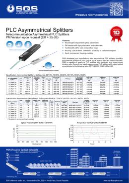 Asymmetrical PLC Splitters