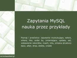 23. Zapytania MySQL nauka przez przykłady