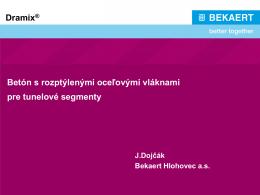 Prezentácia z 17.1.2013 o drátkobetóne v TBM segmentoch