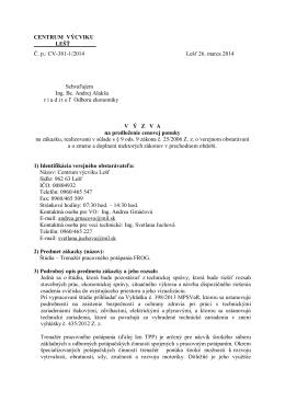 Výzva na predloženie cenových ponúk [pdf]