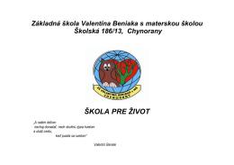 ŠkVP_ISCED_I - Základná škola Valentína Beniaka s materskou