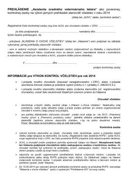Prehlasenie KO 2014 - SPOLOK VČELÁROV SLOVENSKA