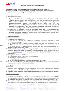 1. Allgemeine Geschäftsbedingungen (AGB) regeln