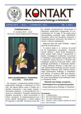 nr. 2-2014 - Zjednoczenie Polskie w Helsinkach