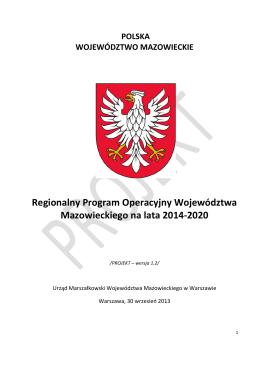 Regionalny Program Operacyjny Województwa Mazowieckiego na