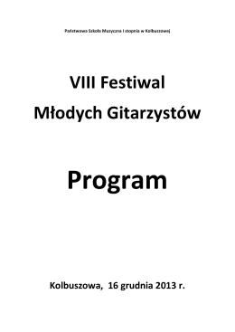 VIII Festiwal Młodych Gitarzystów