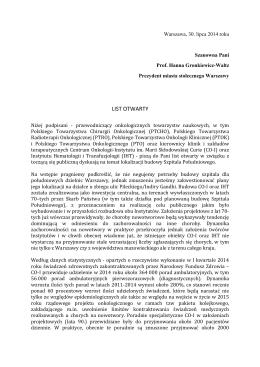 ! LIST!OTWARTY - Instytut Hematologii i Transfuzjologii