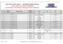 SHOWTIME 2015 - Tanečno-športový klub JUNILEV