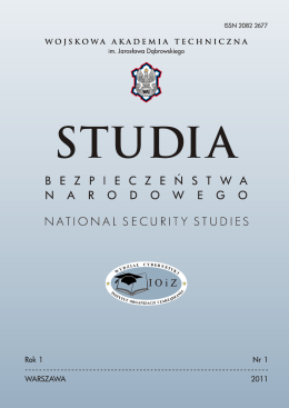 Studia Bezpieczeństwa Narodowego nr I t. 2, 2011