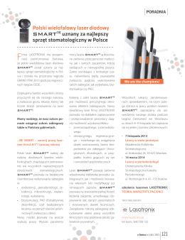 Polski wielofalowy laser diodowy SMARTM uznany za najlepszy