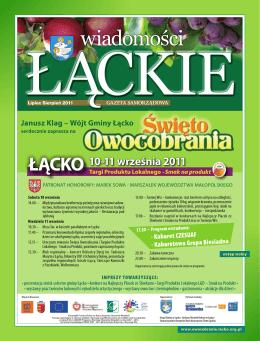 Wiadomości Łąckie LIPIEC / SIERPIEŃ 2011