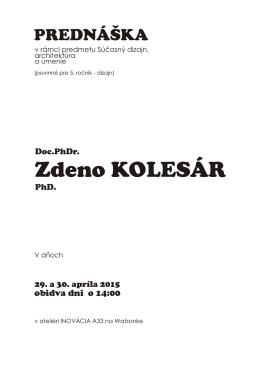 Zdeno KOLESÁR