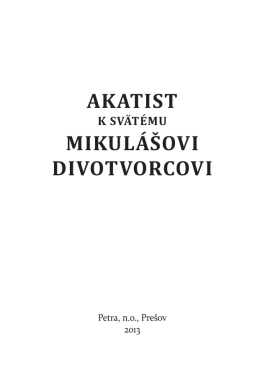 Akatist k sv. Mikulášovi