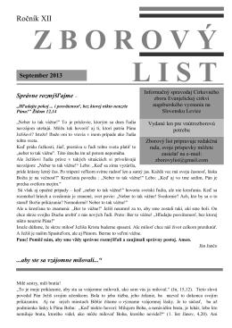 september 2013.pdf - Domov - ECAV