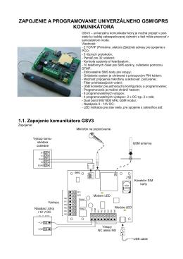 zapojenie a programovanie univerzálneho gsm/gprs
