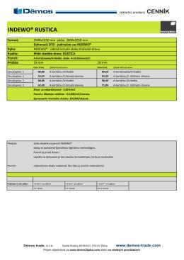 Cenník EUROPLAC INDEWO dýhované dosky 2014