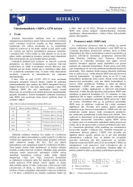 Videokomunikácie v ISDN a ATM sieťach 1 Úvod 2 Prenosový mód