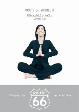 ROUTE 66 MOBILE 8 Užívateľská príručka 1