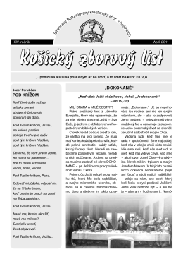 zborový list 1/2011 - Slovenský Reformovaný Kresťanský Zbor v